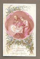 IMAGE PIEUSE.. édit. Bouasse Lebel M18.. Sous La Protection De JESUS Avec L'aide De MARIE Et De JOSEPH - Images Religieuses