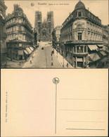 Postkaart Brüssel Bruxelles Rue Sainte Gudule - Geschäfte - Kirche 1911  - Unclassified