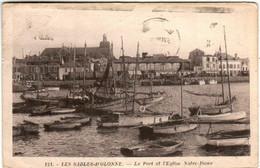 31nps  1801 CPA - LES SABLES D'OLONNE - LE PORT ET L'EGLISE NOTRE DAME - Sables D'Olonne