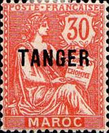 Maroc (Prot.Fr) Poste N* Yv: 90 Mi:15 Droits De L'homme Mouchon Typ2 Retouché (Trace De Charnière) - Nuevos