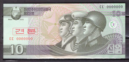 BILLET DE BANQUE COREE DU NORD 10 WON 2002 PICK 59a NEUF UNC - Korea, North