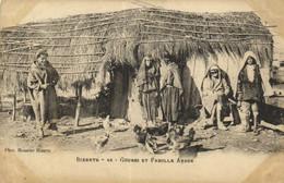 BIZERTE  Gourbi Et Famille Arabe  Pionnière RV - Tunisia