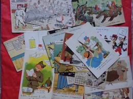 LOT 52 CARTES HUMOUR MILITAIRE DIVERS ILLUSTRATEURS OU NON .JEANCHEVAL .MAY. PAT. ... VOIR PHOTOS - 5 - 99 Cartoline