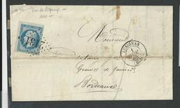 Vienne , Lusignan , Cachet Type 15 G C 2131 Du 1 Nov 1865 , Variété De Piquage - 1849-1876: Classic Period