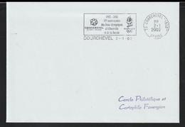 France Cover Posted PP Courchevel 2002 1992-2002 10e Anniversaire Des Jeux Olympiques D'Albertville Et De - Inverno1992: Albertville