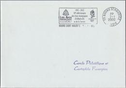 France Cover Posted PP Bourg St. Maurice 2002 1992-2002 10e Anniversaire Des Jeux Olympiques D'Albertville Et De - Inverno1992: Albertville