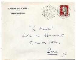 CHARENTE Mme - Dépt N° 17 = ST AUGUSTIN 1964 = AGENCE POSTALE = CACHET HEXAGONAL Pointillé F7 - Cachets Manuels