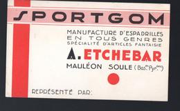 Mauléon Soule (64 Pyrénées Atlantiques) Carte Commerciale SPORTGOM  Espadrilles  (PPP31063) - Advertising