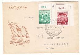 Allemagne - République Démocratique - Lettre De 1954 - Oblit  Lauscha - Danse - Drapeaux - - Covers & Documents