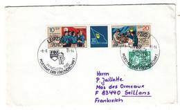 Allemagne - République Démocratique - Lettre De 1981 - Oblit  Leipzig - Drapeaux - - Covers & Documents