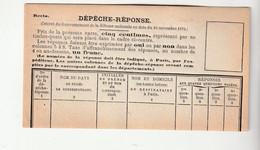 Dépêche Réponse Neuve - 1849-1876: Classic Period