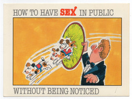 CPM  HUMOUR  -    HOW TO HAVE SEX IN PUBLIC  -    COMMENT FAIRE L AMOUR EN PUBLIC - CIRCUS DOGS BY M. FEIGEL & B. HEATON - Humour