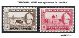 (MYTR57-1) TRENGGANU NEUFS Avec Légère Trace De Charnière  MALAISIE MALAYA MALAYSIA 4c Et 5c - Trengganu