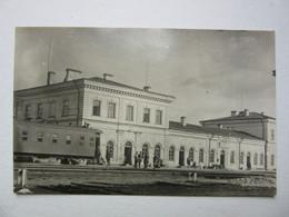 Old Latvia Rezekne Railway Station   PC 1920s - Lettonia