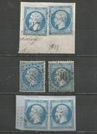 France - Moselle - Obl.GC - AUMETZ, HAYANGE, SIERCK, METZ - 1849-1876: Periodo Clásico