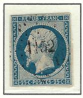 FRANCE Classique 1852: Le Y&T 10a Obl. PC 1152 (Dunkerque), Aminci - 1852 Louis-Napoléon