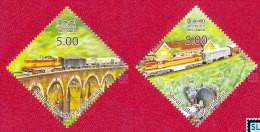 Sri Lanka Stamps 2014, Marvels Of Sri Lanka Railway, Trains, Bridges, MNH - Sri Lanka (Ceylon) (1948-...)