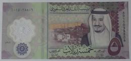 Saudi Arabia 5 Riyals 2020 UNC Polymer P43 - Saudi Arabia