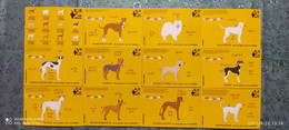 India 2021 Dog Breeds Of India Set Of 12 Picture Post Card Mint # 16085 - Perros