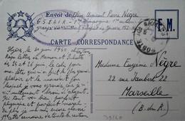 G  25  DOCUMENT/ FACTURE/ LETTRE  /  Carte Fm écrite Au Dos - Guerre De 1939-45