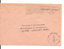 Lettre En Franchise Gendarmerie  Nationale Brigade De Beaune Cote D'Or - Sonstige