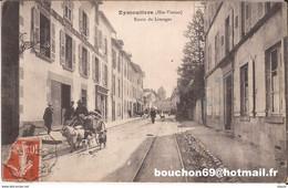 87 Eymoutiers - Route De Limoges Bouc Chevre Chien Attelage Goat Cart Marchand Peaux Lapin - Eymoutiers