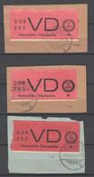 DDR , ZKD , 3x VD 1 Auf Briefstück , Jeweils Signiert Engel - Service