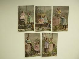 Enfants ( 4458 )  Enfant  Fillette ( Ellen )   Serie De 5 Cartes Postales - Autres