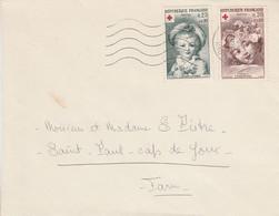 AFFRANCHISSEMENT COMPOSE SUR LETTRE DE BLAGNAC 1963 - 1961-....
