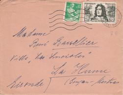 AFFRANCHISSEMENT COMPOSE SUR LETTRE DE PARIS 36 - 1921-1960: Période Moderne
