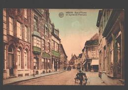 Menen / Menin - Rue D'Ypres Et église St-François - Menen