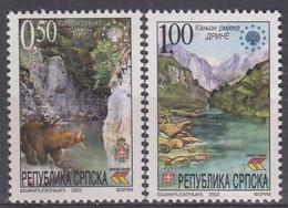 BOSNIA AND HERZEGOVINA Serbian Republic 283-284,unused - Bosnië En Herzegovina