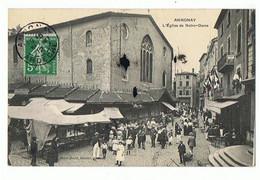 07 - ANNONAY - Eglise Notre Dame, Marché - 567 - Annonay