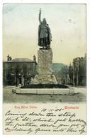 Ref 1495 - 1905 Postcard - King Alfred Statue & Benham Shop - Winchester Hampshire - Winchester