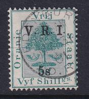 Orange Free State: 1900   Orange Tree 'V.R.I.' OVPT (Raised Stops)     SG122     5/- On 5/-   Used - Estado Libre De Orange (1868-1909)
