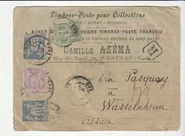 Lettre Recommandée Marchand De Timbres/Castres, Type Sage Affranchissement Tricolore, Dont N°95, 5f Violet, Cote +500e - 1876-1898 Sage (Type II)