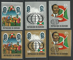 Burundi 1972 Mi 869-A874B MNH  (ZS4 BUR869-A874B) - Stamps