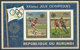 Burundi 1972 Mi Block 61B MNH  (ZS4 BURbl61B) - Stamps