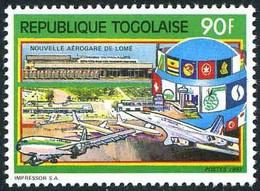 Togo 1990 Aéroport Lomé Concorde Boeing 737  (YT 1309, Michel 2186, St Gibbons 2103) - Aerei