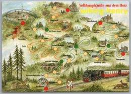Harz - Harzer Schmalspurbahnen Volldampfgrüße Aus Dem Harz Mit Lokomotive - Sonstige