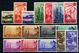Africa Oriental Italiana Nº 29/42, A14/15 - Afrique Orientale Italienne