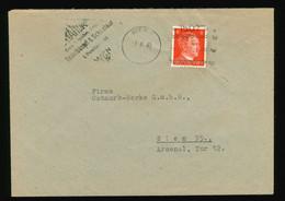 Briefhülle 1943 SST Gesellschaft Für Techn. Artikel Eddelbüttel & Schneider Wien - Ostmark Werke Wien Maschinenstempel - Brieven En Documenten