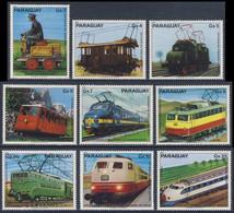Paraguay 1979 Mi 3249 /57 ** 100 Jahre Elektrische Eisenbahnen / Electric Railways /  Chemins De Fer électriques - Treni