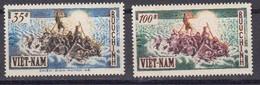 Vietnam Du Sud. 1955 Yvert 36 / 37 ** Neufs Sans Charniere. Exode De La Population Du Nord - Viêt-Nam
