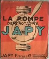 Catalogue Japy Frères Beaucourt - La Pompe Demi Rotative - 1921 - 1900 – 1949