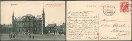 Carte Postale - Frameries : La Grand'place Et L'hotel Communal (Edit. A. Duwez-Delcourt, Mons) - Frameries