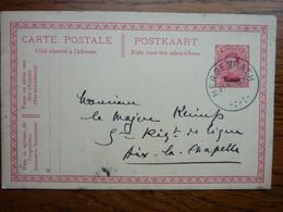 1920 Carte Postale  Entier Postal 10c  EUPEN  Cachet  HERGENRATH Et Postes Militaires Au Dos   PERFECT - Cartoline [1909-34]