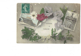 Cpa - 13 - Tarascon - Souvenir - Multivues - Illustration Fleurs - 1910 - - Tarascon