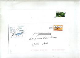 Lettre Cachet Annulation Lons Le Saunier  Etiquette Peche - Manual Postmarks