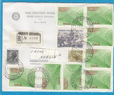 LETTRE RECOMMANDÉE DE CARATE-BRIANZA POUR LUXEMBOURG-VILLE. - 1961-70: Marcophilie